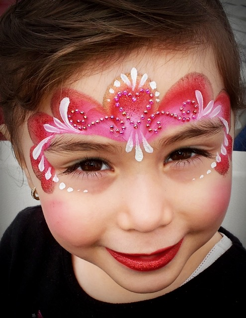 Princess Gem Face Paint by TheBalloonGuyLA.com