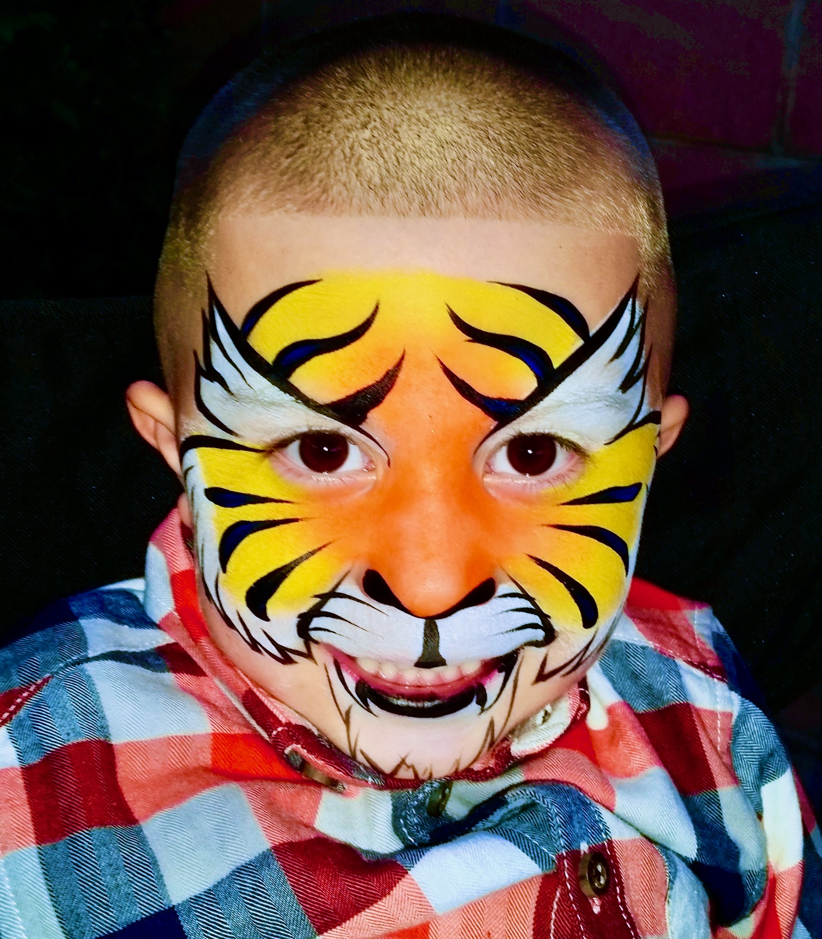 Tiger Face Paint by TheBalloonGuyLA.com