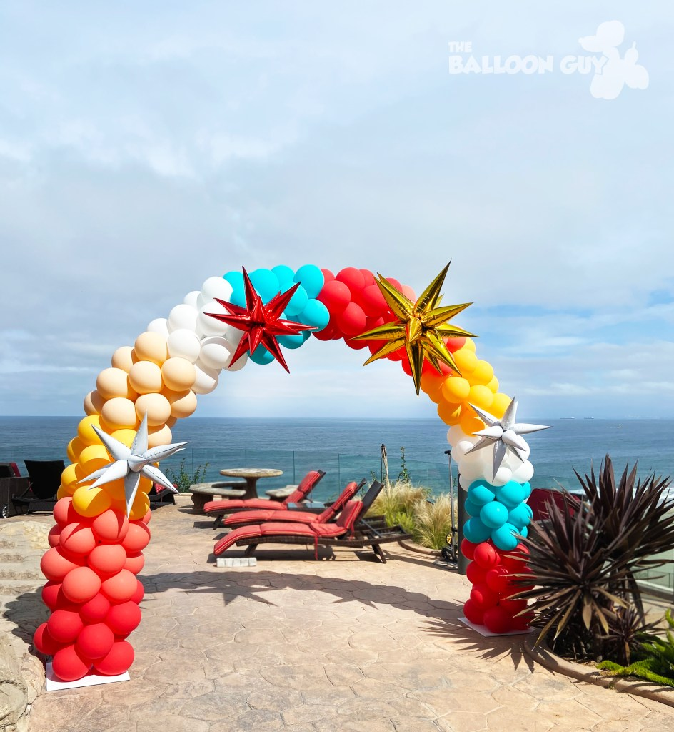 Amazing Balloon Arch by The Balloon Guy