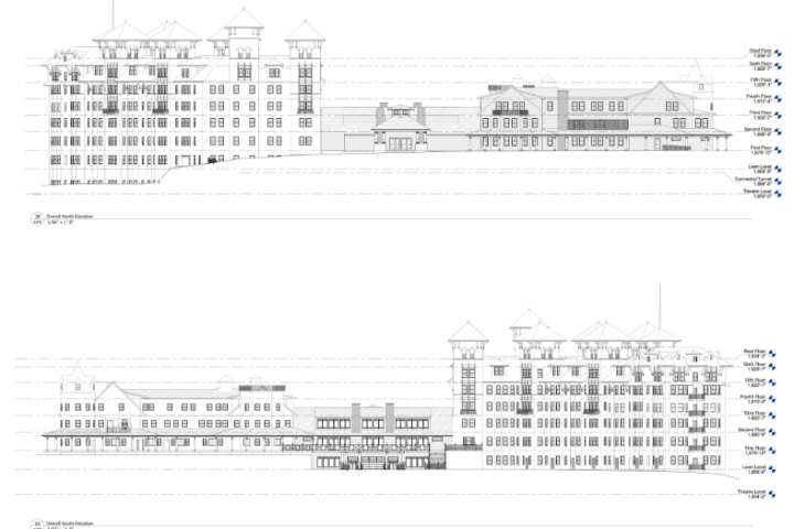 Dix and Hampshire House Elevations