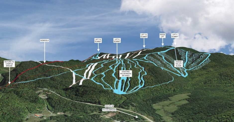 View from the north west, with views of the existing Wilderness Ski Area.