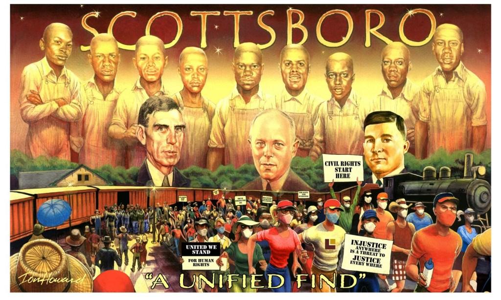 Scottsboro Boys Mural By Don Howard