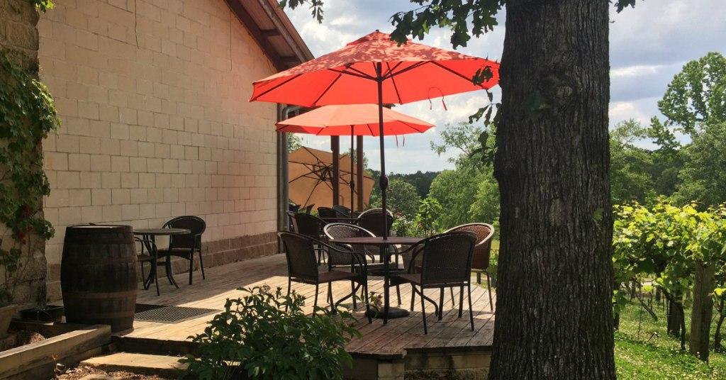 Patio At Ozan Three Alabama Wine Trails