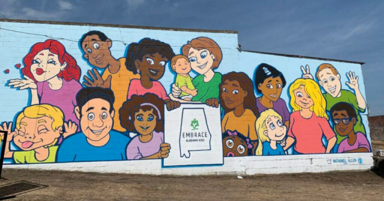 NEW mural in Montgomery raises awareness Alabama's vulnerable children