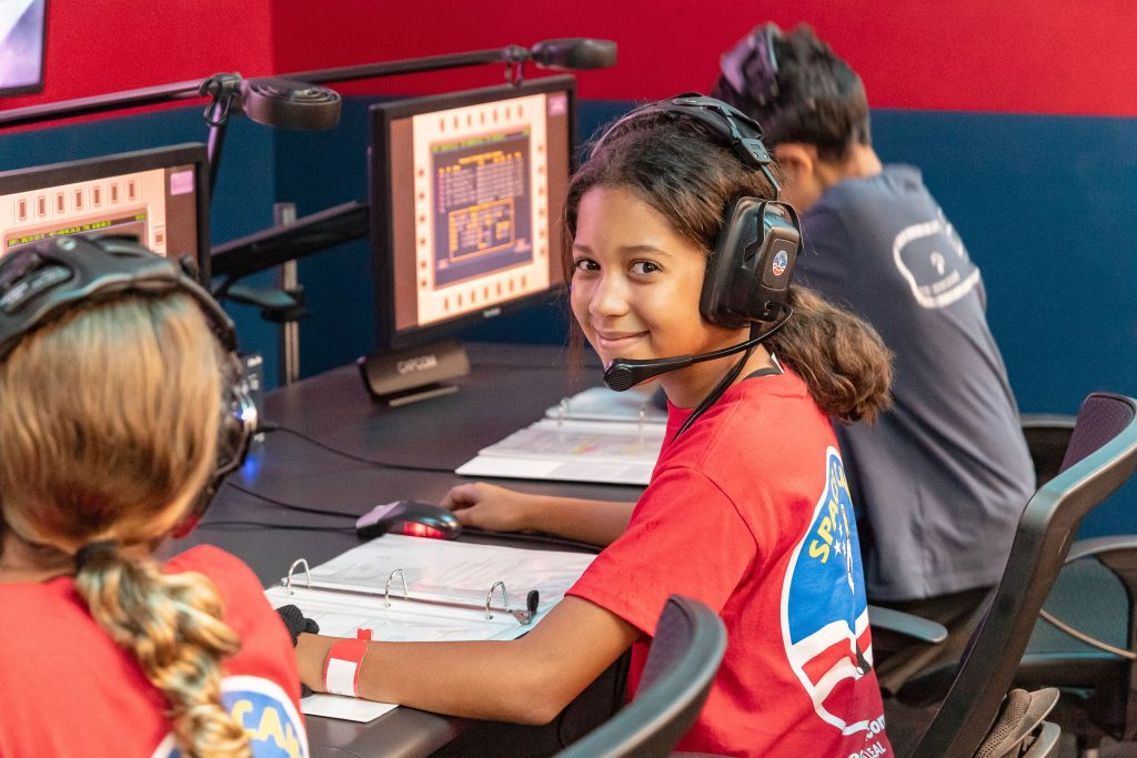 A Space Camp Student In Mission Control. Photo Courtesy Of Space Camp.