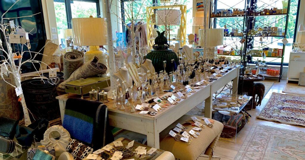 Some Of The Awesome Art And Jewelry At Black Door Studio.