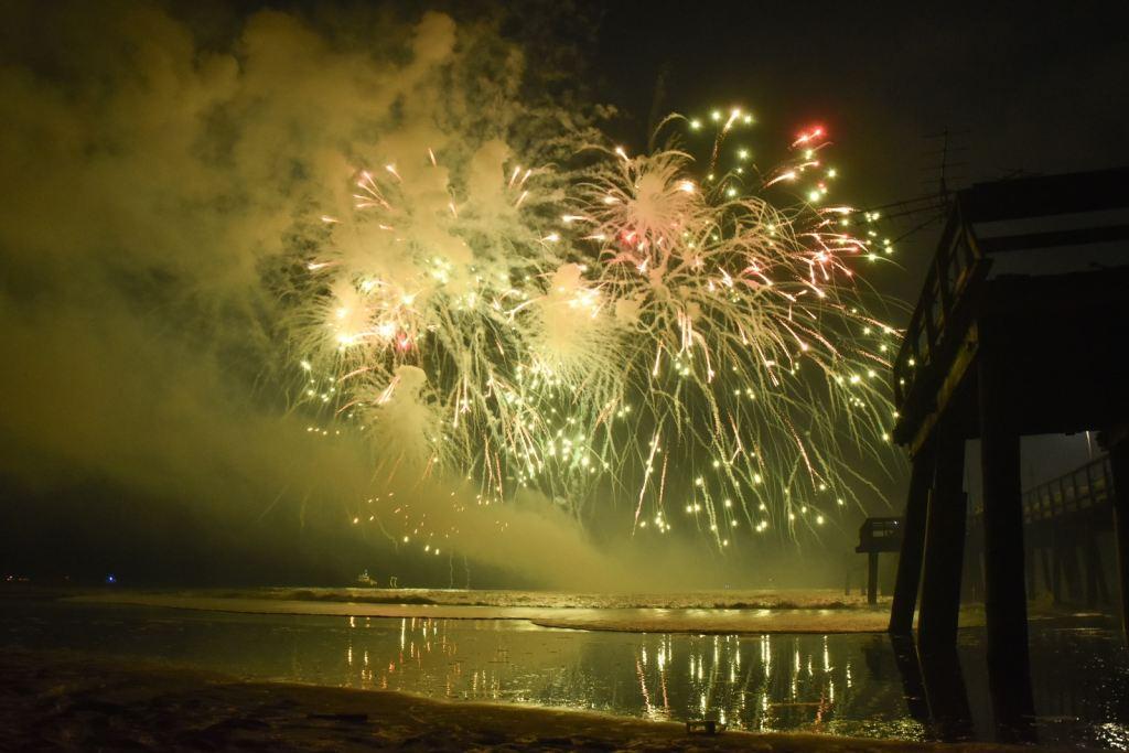 Fireworks Display During Night
