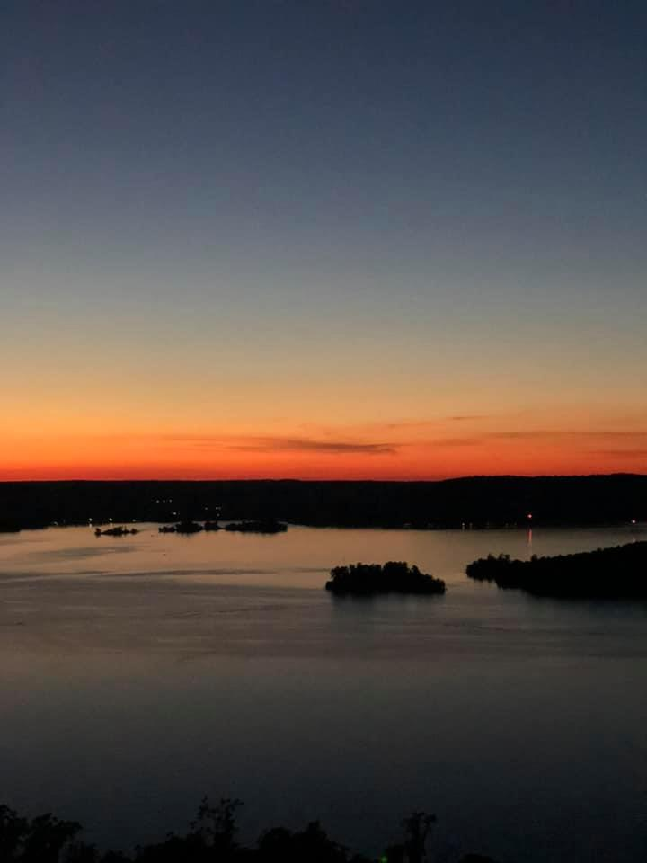 Glowing Orange Sunset Over Lake Guntersville.
