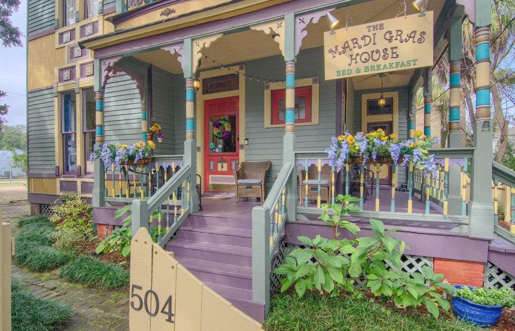 Mardi Gras House Front Porch