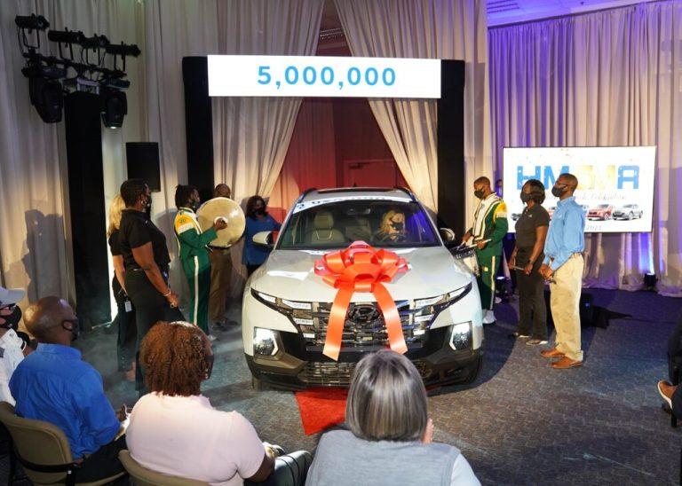Hyundai Motor Manufacturing Alabama celebrates their 5 millionth vehicle