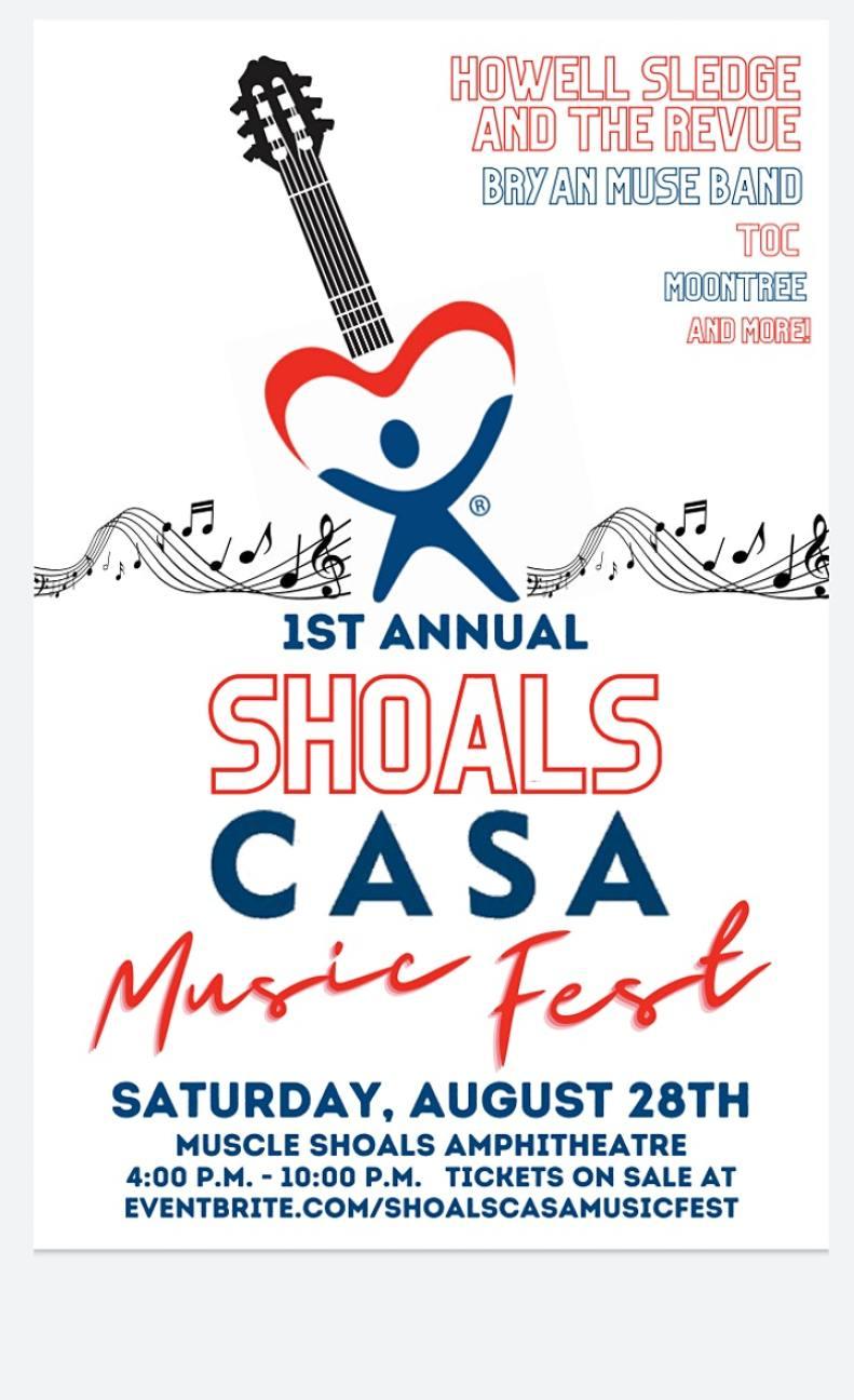 Flyer For Shoals Casa Music Fest