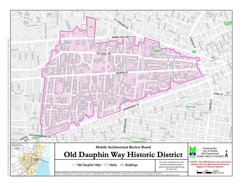 Old Dauphin Way Map