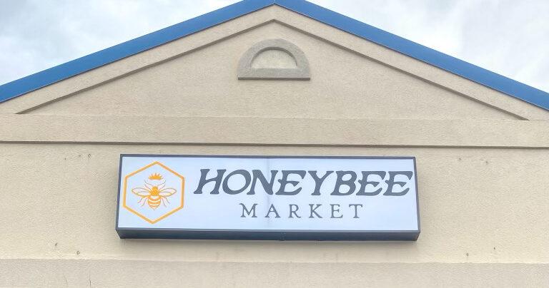 Honeybee Market Sign
