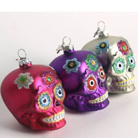 Day of the Dead Skull Ornaments