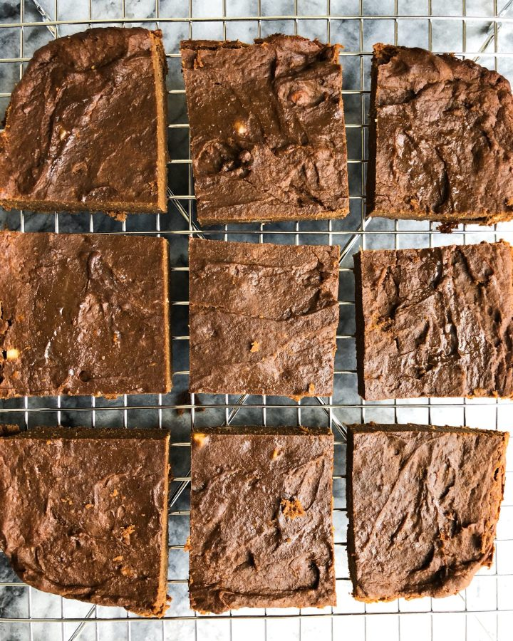 One bowl Fudgy Paleo Brownies made with sweet potato and filled with resistant starch for a healthy treat any time of day!