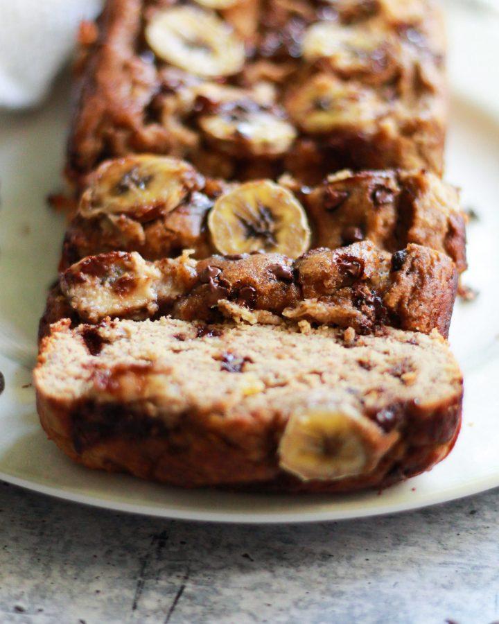 paleo banana bread sliced