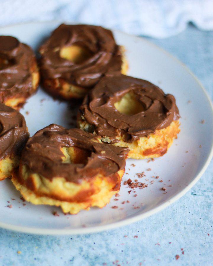 3/4 shot of vegan cake donuts