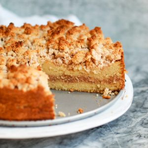 This classic cinnamon coffee cake is completely paleo, gluten free, and nut free! It's a healthy twist that tastes just like the traditional cinnamon coffee cake!