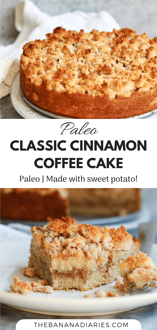 Pinterest image for class coffee cake