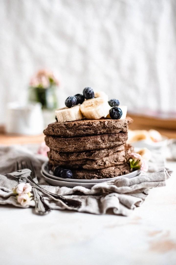 plate of vegan buckwheat pancakes