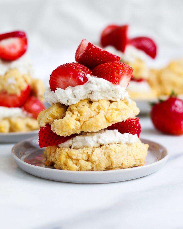 paleo layered strawberry shortcake