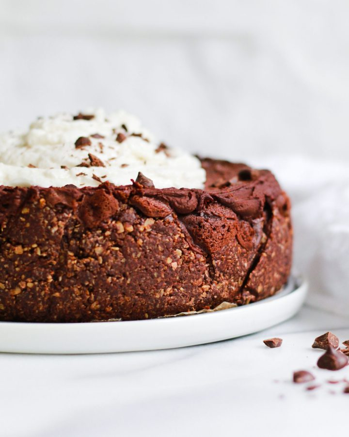 close up of chocolate crust