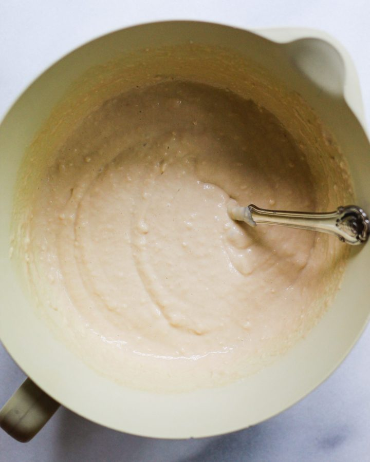 best vanilla cake batter in bowl