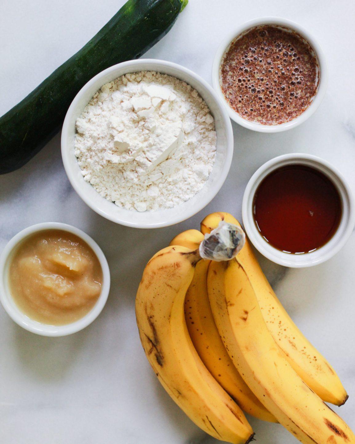 zucchini banana bread ingredients
