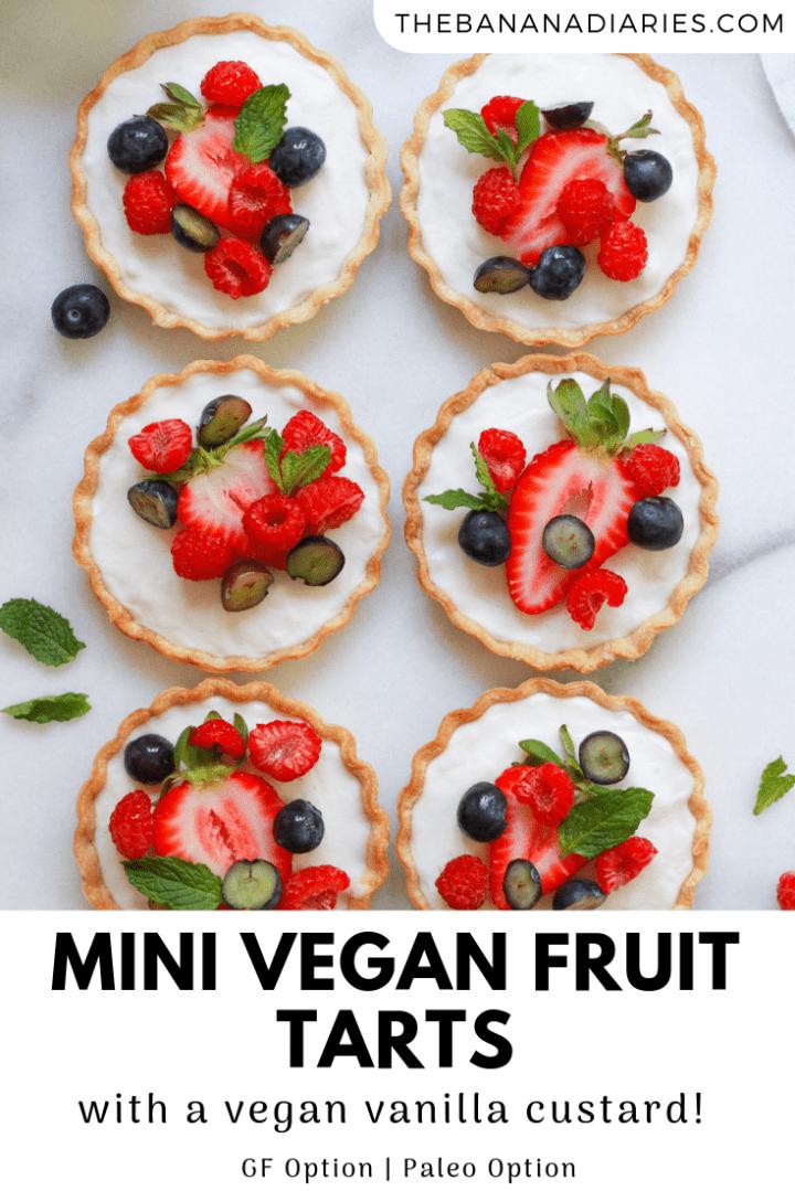 second pinterest image for vegan fruit tarts