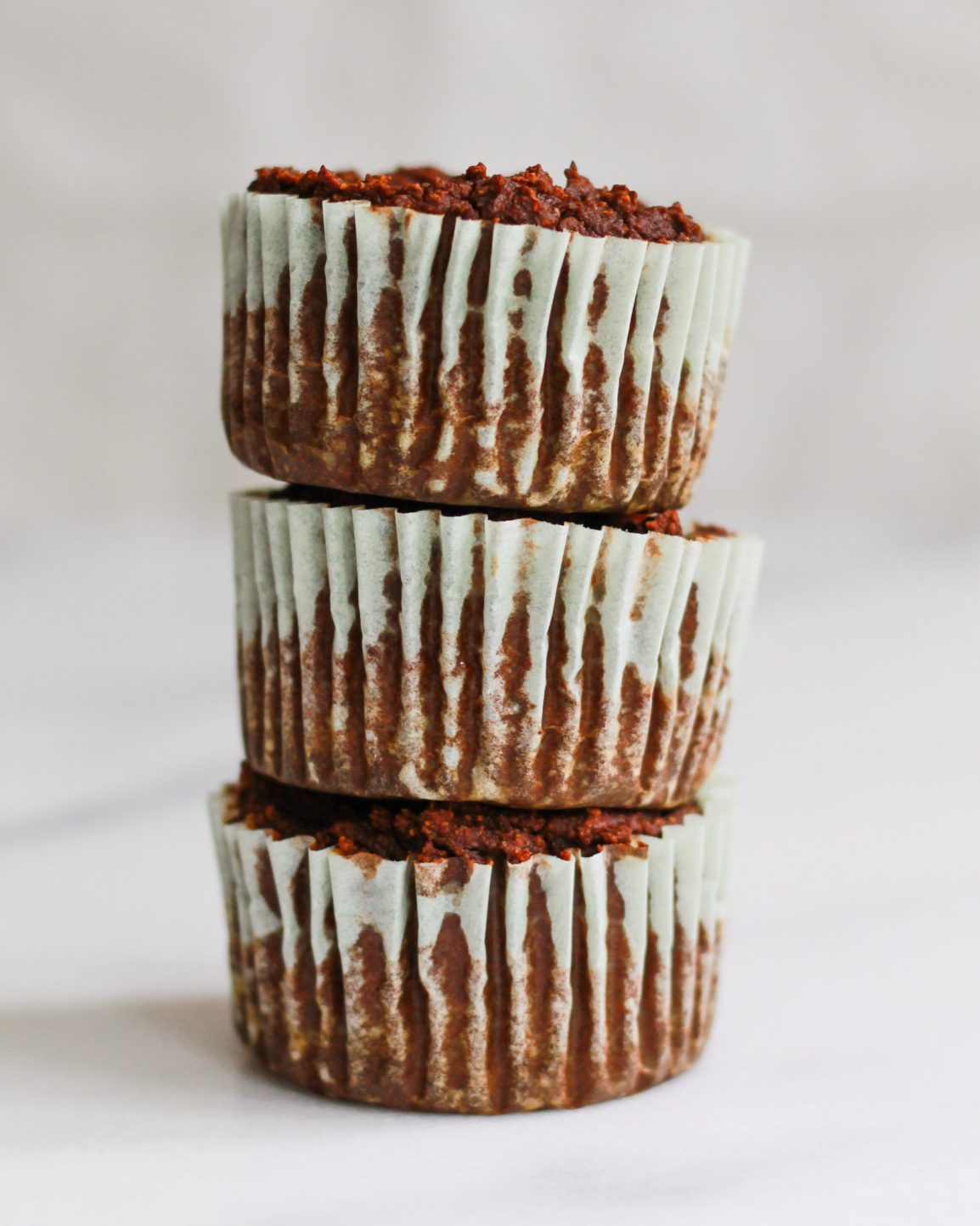 stacked gluten free chocolate cupcakes