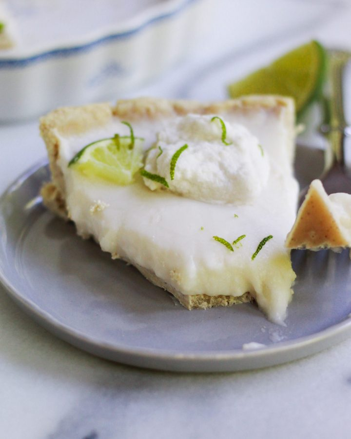 slice of vegan key lime pie