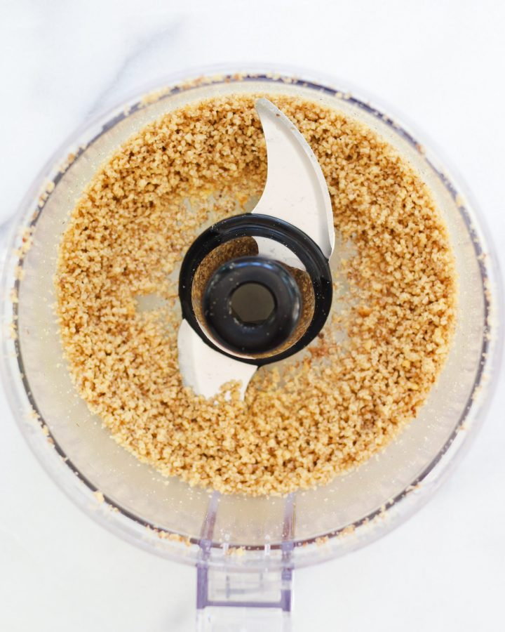 walnuts pureed in food processor