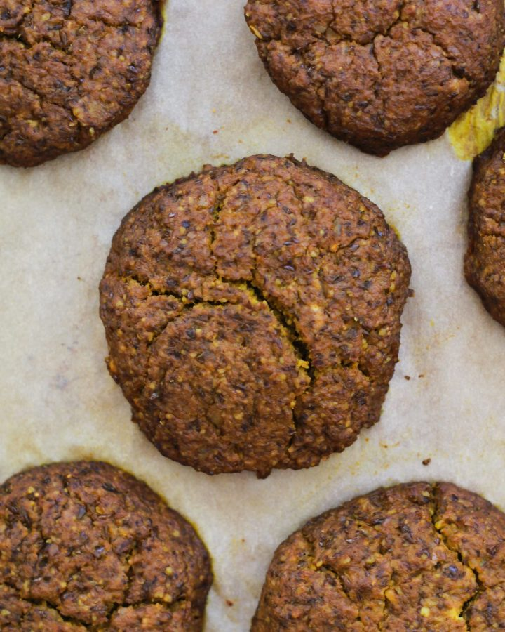 homemade veggie burgers on parchment paper