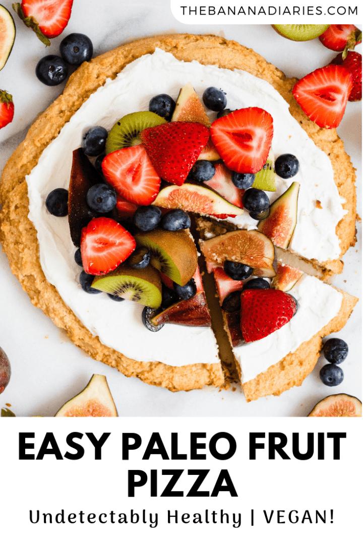 pinterest image for paleo fruit pizza