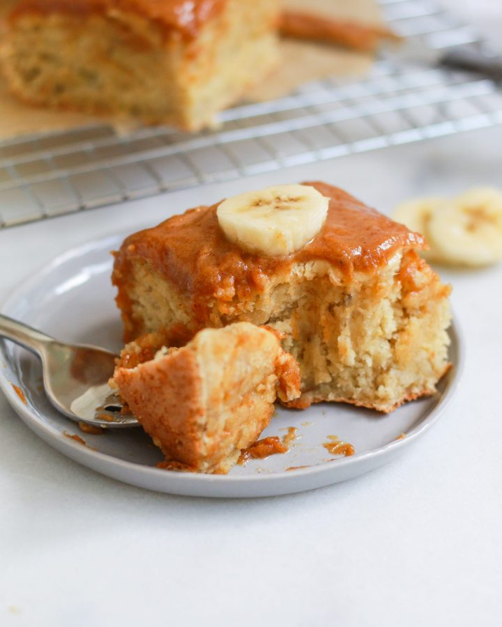 bite of banana cake