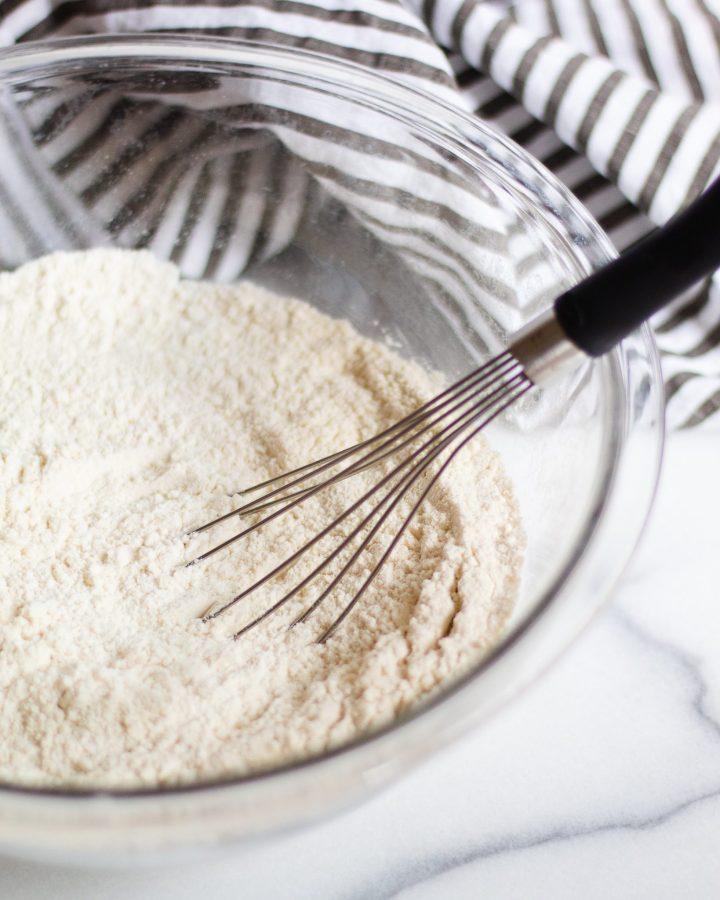 pancake flour whisked together