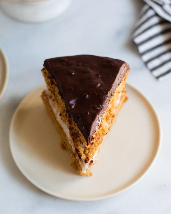 slice of cream pie on plate