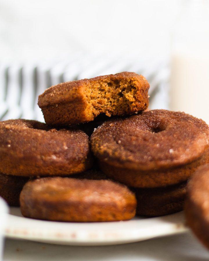 plate of cinnamon sugar donuts