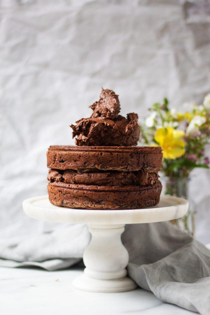 buttercream on top of cake