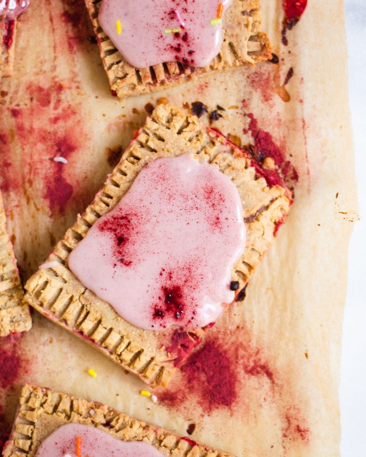 Paleo pop tarts with beet frosting and beet powder