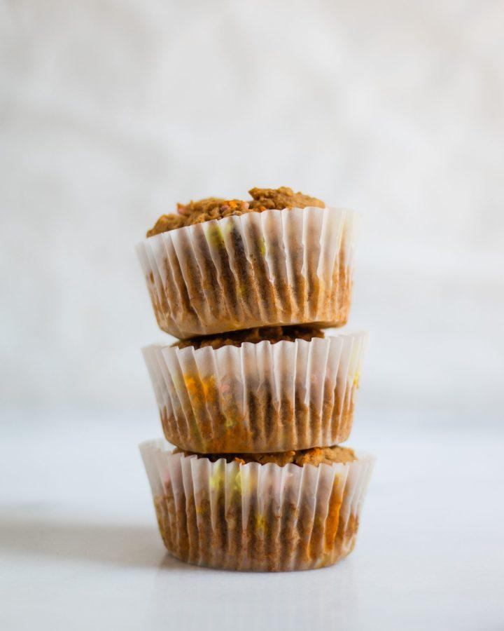 stack of vanilla cupcakes