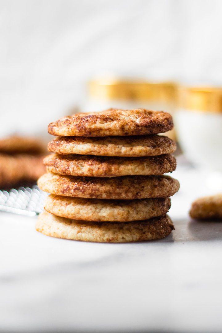stacked snickerdoodle cookies