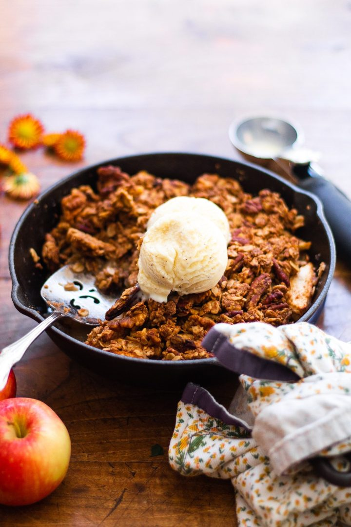 scooped apple crisp