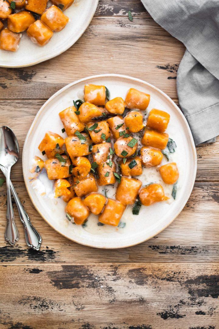plate of vegan gnocchi