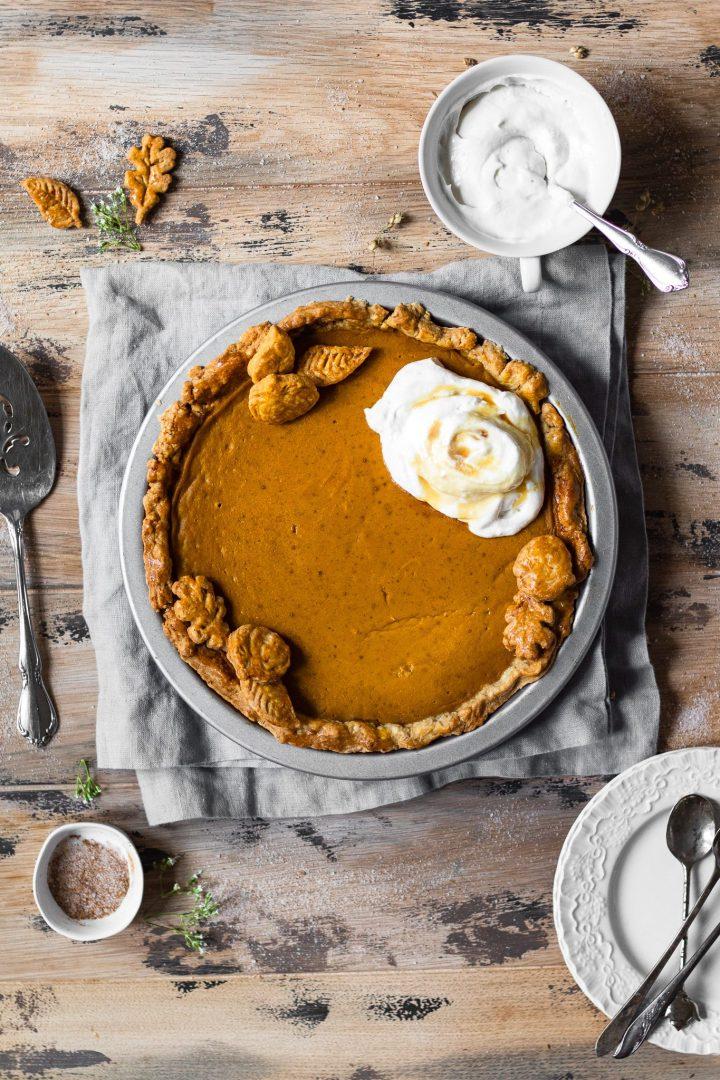 full pumpkin pie
