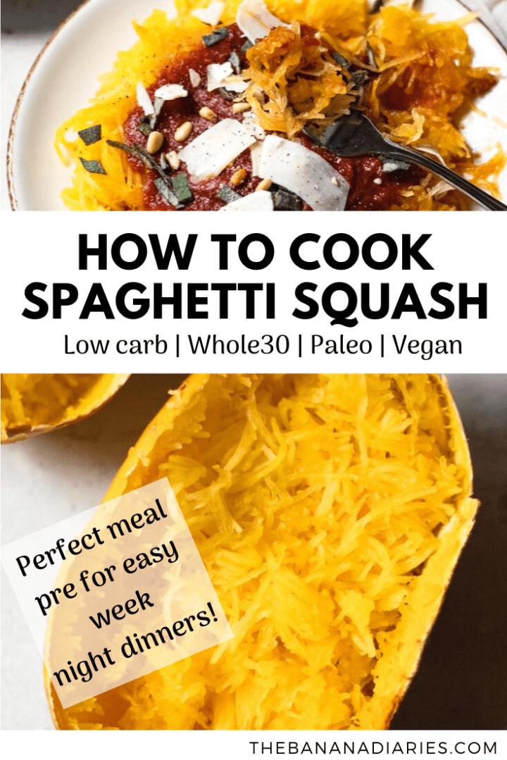 pinterest pin for spaghetti squash