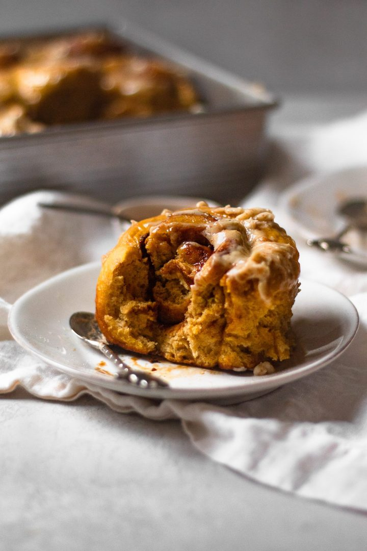 eaten pumpkin cinnamon rolls