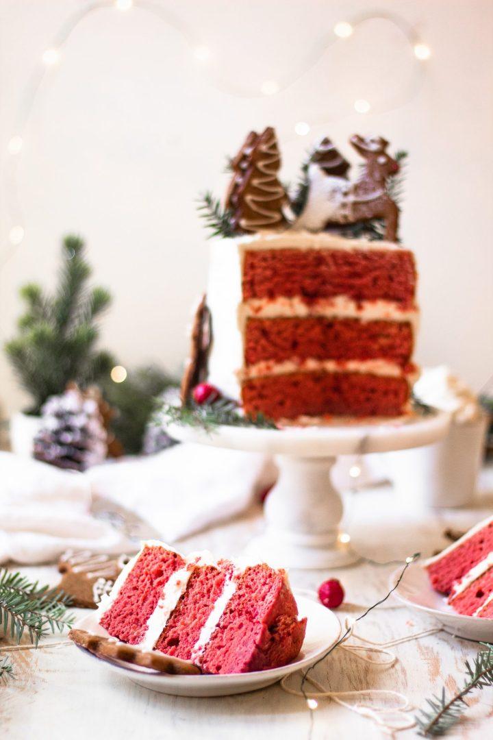 slices of red velvet cake