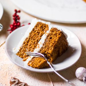 slice of sweet potato cake