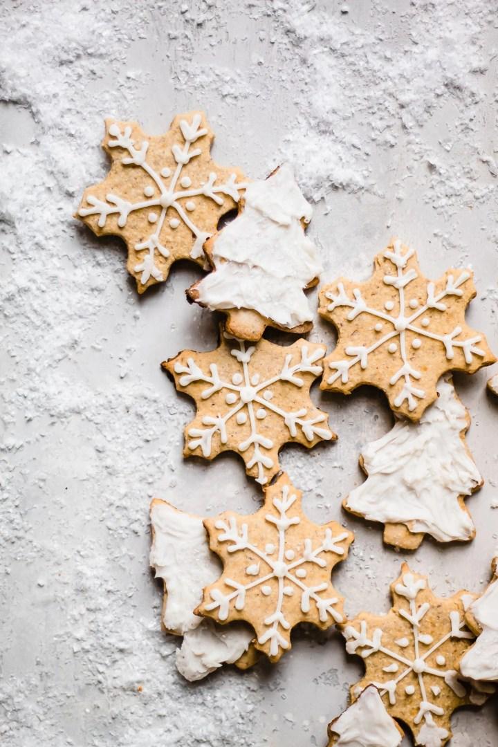 line of sugar cookies